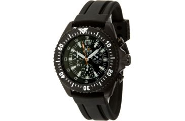 H3 Tactical H3.15220 Commander Mens Watch - Black Dial, Black Bezel, Rubber Band, Timer