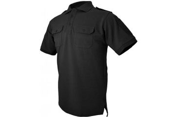 Hazard 4 QuickDry LEO Uniform Replacement Battle Polo, Black, Medium, NO APR-QDLEO-BLK-M