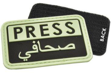 Hazard4 Press - Eng-Arabic Patch, Glow in dark PAT-PRS-YLO