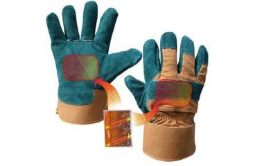 Heat Factory Medium Green Utility Glove W/Two Pockets For Heat Warmers 40157