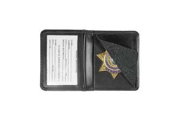 Heros Pride Deluxe Low Profile Badge Case w/ ID - 2-5/8in 5-Pt Star w/Banner Cut 148 9101-0148