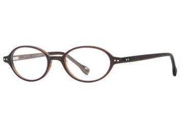 Hickey Freeman HF Boston SEHF BOST00 Single Vision Prescription Eyeglasses - Brown Stripe SEHF BOST004940 BN