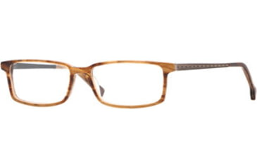 Hickey Freeman HF Newbury SEHF NEWB00 Single Vision Prescription Eyeglasses - Mocha Stripe SEHF NEWB005545 BNL