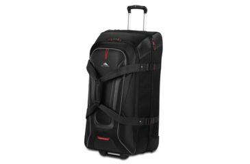 4110fd798 High Sierra AT7 Wheeled Duffel with Backpack Straps, Black, 32.0inx 16.0inx  15.0