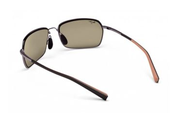 Maui Jim High Tide Sunglasses w/ Metallic Gloss Copper w/ Tan Tips Frame and HCL Bronze Lenses - H323-23, Back View