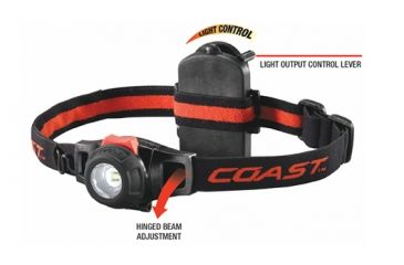 Coast HL6 LED 153 Lumens 3AAA Headlamp, Black/Red - Clam Pack TT7468CP