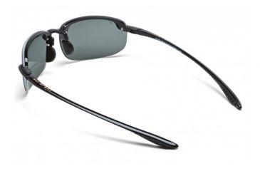 Maui Jim Ho'okipa Reader Sunglasses w/ Gloss Black Frame and Neutral Grey 1.50 Magnification Lenses - G807-0215, Back View