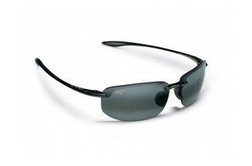 Maui Jim Ho'okipa Reader Sunglasses w/ Gloss Black Frame and Neutral Grey 1.50 Magnification Lenses - G807-0215, Quarter View