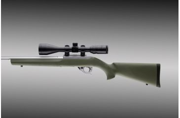 Hogue 10 22 Rubber O M Stock Magnum Action With Standard Bar Od Green 22220