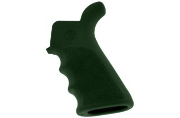 Hogue AR-15/M-16 Rubber Grip Beavertail with Finger Grooves OD Green 15021