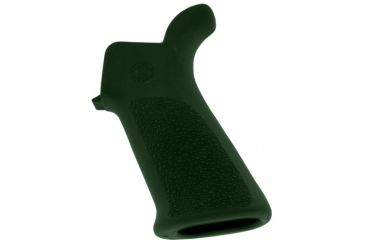 Hogue AR-15/M-16 Rubber Grip Beavertail with No Finger Grooves OD Green 15031