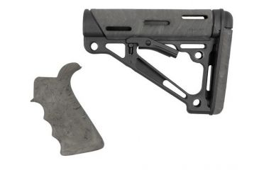 7-Hogue Grooved Beavertail Collapsible Buttstock AR15/M16 Kit