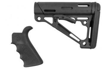 2-Hogue Grooved Beavertail Collapsible Buttstock AR15/M16 Kit