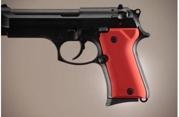 Hogue Beretta 92 Compact Aluminum - Matte Red Anodized 93162