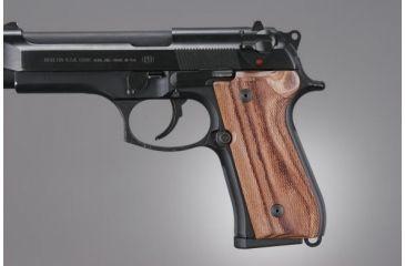 Hogue Beretta 92 Kingwood Checkered 92611