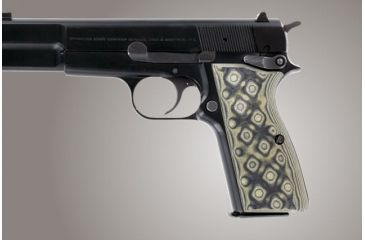 Hogue Browning Hi Power G 10 Od Green Camo 09168