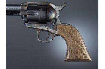 Hogue Colt Single Action Walnut Cowboy Panels, Checkered 50671