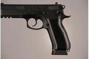 Hogue CZ-75 - CZ-85 Aluminum - Brushed Gloss Black Anodized 75166
