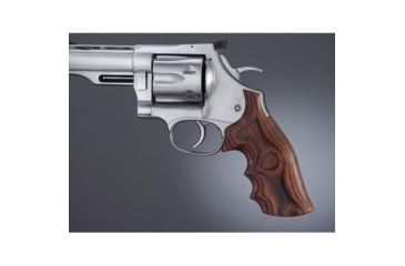 Hogue Dan Wesson Lg.Frame RoseLaminate No Finger Groove, Big Butt, Checkered 58535