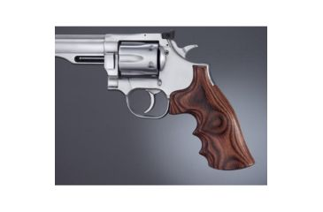 Hogue Dan Wesson Sm.Frame RoseLaminate Top Finger Groove, Big Butt 57544