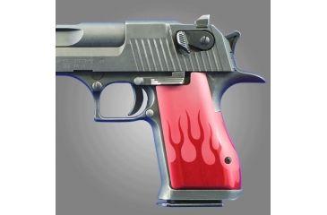 Hogue Desert Eagle Flames Aluminum - Red Anodized 03132