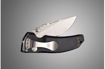 Hogue EX-03 3.5in Folder Drop Point Blade Tumble Finish Polymer Frame - Matte Black 34370