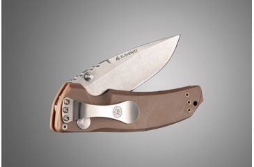 Hogue EX-03 3.5in Folder Drop Point Blade Tumble Finish Polymer Frame - Matte Brown 34373
