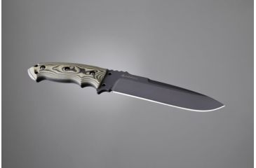 Hogue EX-F01 7in Fixed Drop Point Blade A-2 Black Kote G-10 Scales - G-Mascus Green 35158