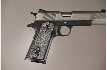 Hogue G-10 Grips for 1911 Govt  S&A Mag Well, Piranha pattern