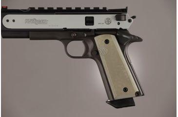 Hogue Govt. Model 9/32 Thick G-10 - OD Green Camo 01448