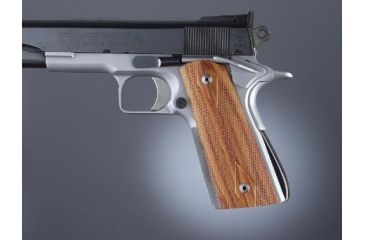 Hogue Govt. Model Tulipwood S&A Mag.-Well Checkered 45771