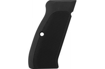 Hogue Handgun Grip, Checkered Aluminum Matte Black Anodized 75170