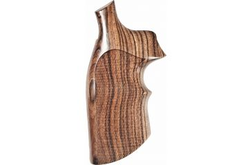Hogue K or L Sq. Butt Kingwood Top Finger Groove Checkered 10651
