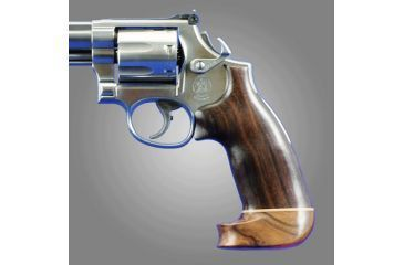Hogue Dan Wesson SmallFrame Rosewood No Finger Groove, Big Butt 57934