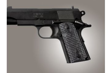 Hogue G-10 Grips for 1911 Officers Model, Piranha pattern