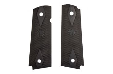 Hogue Rubber Grip Panel Colt Government Models Black Checkered With Diamonds 45010