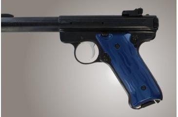 Hogue Ruger Mk Ii Mk Iii Flames Aluminum Blue Anodized 82133