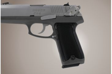 Hogue Ruger P94 Checkered Aluminum Brushed Gloss Black Anodized 94176