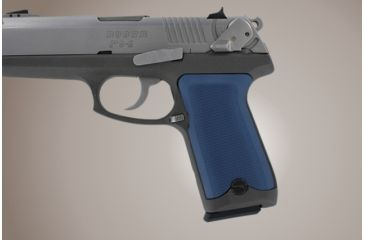 Hogue Ruger P94 Checkered Aluminum Matte Blue Anodized 94173
