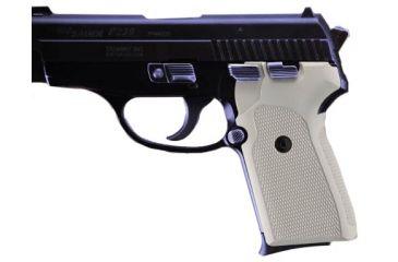 Hogue SIG Sauer P239 Checkered Aluminum Grip - Matte Clear Anodized 31174