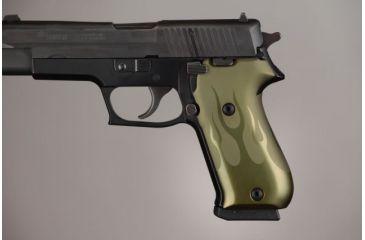 Hogue SIG Sauer P220 American Flames Aluminum - Green Anodized 20131