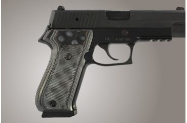 Hogue SIG Sauer P220 DAK American Checkered G-10 - G-Mascus Black/Gray 20157-BLKGRY
