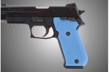 Hogue Sig Sauer P220 Handgun Grip Sao American Aluminum Matte Blue Anodized 21143 1h Gu 21143