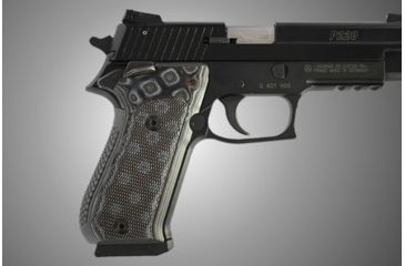 Hogue SIG Sauer P220 SAO American Checkered G-10 - G-Mascus Black/Gray 21157-BLKGRY