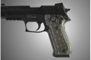 Hogue SIG Sauer P220 SAO American Checkered G-10 - G-Mascus Black/Gray 21157-BLKGRY