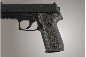 Hogue SIG Sauer P228 P229 DAK G-10 - G-Mascus Black/Gray 28147-BLKGRY