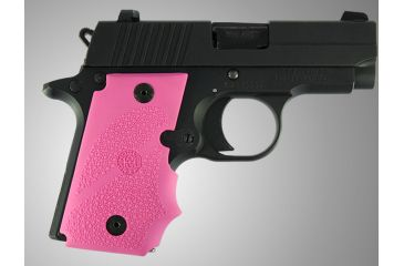 Hogue SIG Sauer P238 Rubber Grip with Finger Grooves Pink 38007