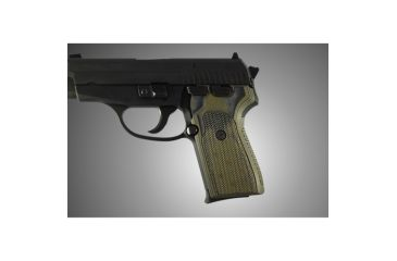 Hogue SIG Sauer P239 Checkered G-10 - OD Green Camo 31178