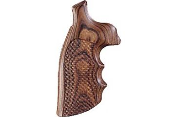 Hogue Kingwood Checkered Grip - K or L Sq. Butt Revolvers - 10601