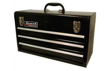 Homak 20in 3 Drawer Toolbox, Black BK01032101